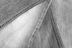 Czarna cajgowa tekstura Obraz Stock
