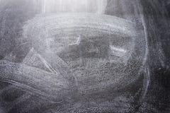Czarna chalkboard tekstura Abstrakt kreda nacierał za blackboard lub chalkboard teksturze na obraz royalty free