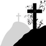 Chrześcijanina krzyż (1) i roślina Obrazy Stock