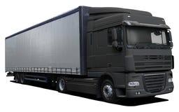 Czarna ciężarówka DAF XF fotografia royalty free
