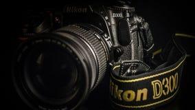 Czarna cyfrowa SLR kamera zdjęcie stock