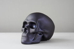Czarna czaszka na bielu Zdjęcia Royalty Free