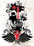 czarna czaszki Obrazy Royalty Free