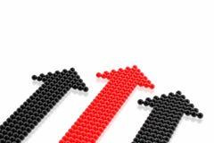 czarna czerwona strategia sukces zespołu ilustracja wektor