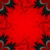 czarna czerwone tło royalty ilustracja