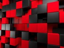 czarna czerwone tło Fotografia Royalty Free