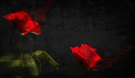 czarna czerwony Wewnętrzna praca Obraz Royalty Free