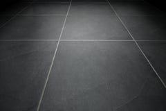 Czarna dachówkowa podłoga Obrazy Stock