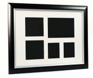 Czarna dekoracyjna fotografii rama Wielo- rama set Obraz Royalty Free
