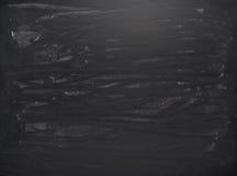 Czarna deska z śladami kreda obrazy stock