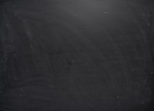 Czarna deska z śladami kreda Obrazy Royalty Free