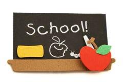 czarna deski do szkoły Zdjęcia Royalty Free