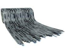 Czarna drewniana podłoga, rool parkietowy Obraz Royalty Free