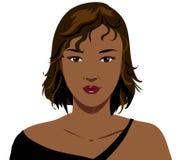 czarna dziewczyna ilustracja wektor