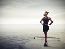 Czarna dziewczyna Zdjęcia Royalty Free