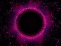 Czarna dziura, astronautyczna mgławica, super wielkościowy abstrakcjonistyczny tło zdjęcie stock