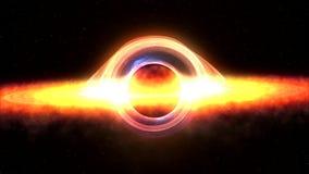 Czarna dziura przyciąga astronautyczną sprawę 4k 3d wideo rendering royalty ilustracja