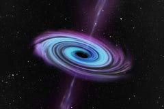 Czarna dziura w centrum ilustracja wektor