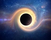 Czarna dziura w g??bokiej przestrzeni royalty ilustracja