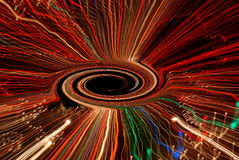 czarna dziura, wir przestrzeni Obrazy Stock