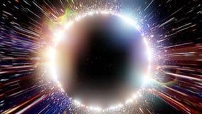 Czarna dziura z asteroidami i mgławicą royalty ilustracja