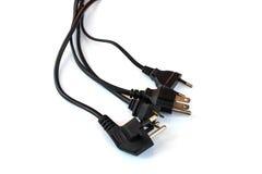 Czarna elektryczna prymka na białym odosobnionym tle Fotografia Stock