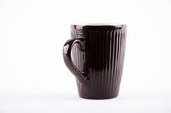 Czarna filiżanka dla napój gorącej kawy espresso Obraz Stock