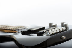 czarna gitara basowa Obrazy Stock