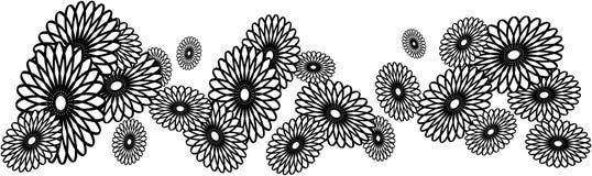 czarna granica kwitnie biel Obrazy Stock
