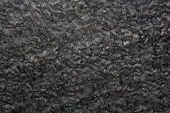 Czarna granitowa tekstura na makro- Obraz Stock