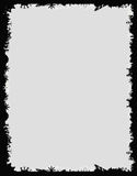 Czarna grunge rama Obrazy Stock