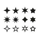 Czarna gwiazda - ikona royalty ilustracja