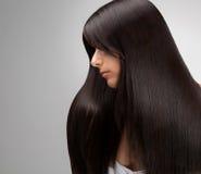 Czarna hair.Good ilości retuszerka Zdjęcie Stock