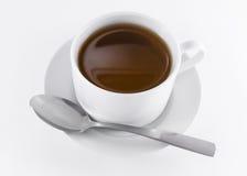 Czarna herbaciana filiżanka Obrazy Stock