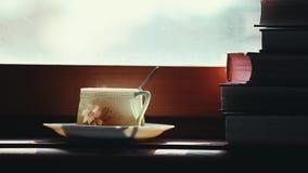 Czarna herbata rezerwuje materiału filmowego ranku czas zbiory wideo