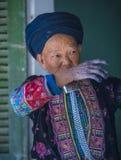 Czarna Hmong mniejszość etniczna w Wietnam obrazy stock