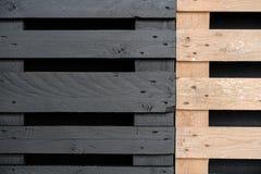 Czarna i brown drewniana tekstura Fotografia Royalty Free