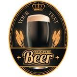 Czarna i złocista piwna etykietka Ilustracji