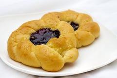 czarna jagoda chleb Zdjęcia Royalty Free