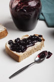 Czarna jagoda dżem Obraz Royalty Free