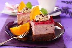 czarna jagoda tort Obraz Stock