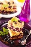 czarna jagoda tort Fotografia Stock