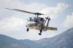 Czarna jastrzębia helikopteru drużyna ratownicza Fotografia Stock