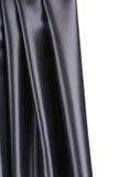 Czarna jedwabnicza draperia Obrazy Royalty Free