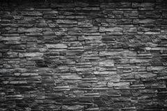 Czarna kamienna ściana Fotografia Royalty Free