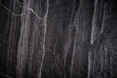 Czarna Kamienna tekstura, luksusowy zmroku kamienia tło, winiety granica Zdjęcie Stock