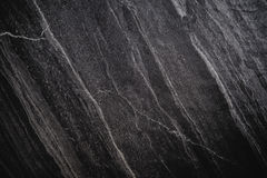 Czarna Kamienna tekstura, luksusowy zmroku kamienia tło, winiety granica Zdjęcia Royalty Free