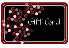 czarna karta czerwony zakupy Zdjęcie Royalty Free