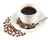 Czarna kawa Zdjęcia Stock