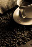 czarna kawa Obrazy Royalty Free